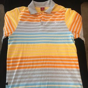 Jordan Mens XL Multi-Color Striped Short Sleeve